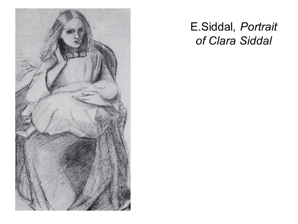 E.Siddal, Portrait of Clara Siddal