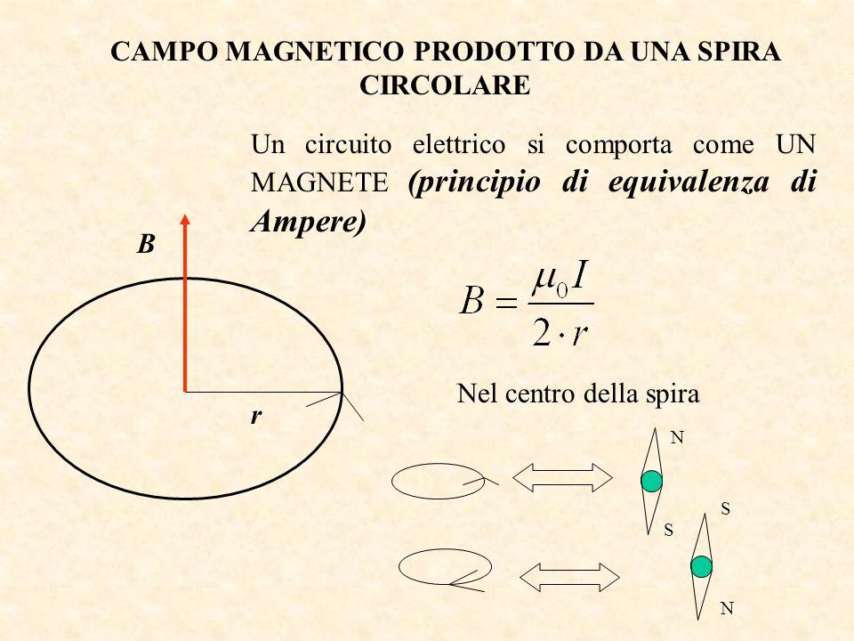 CAMPO MAGNETICO PRODOTTO DA UNA SPIRA CIRCOLARE