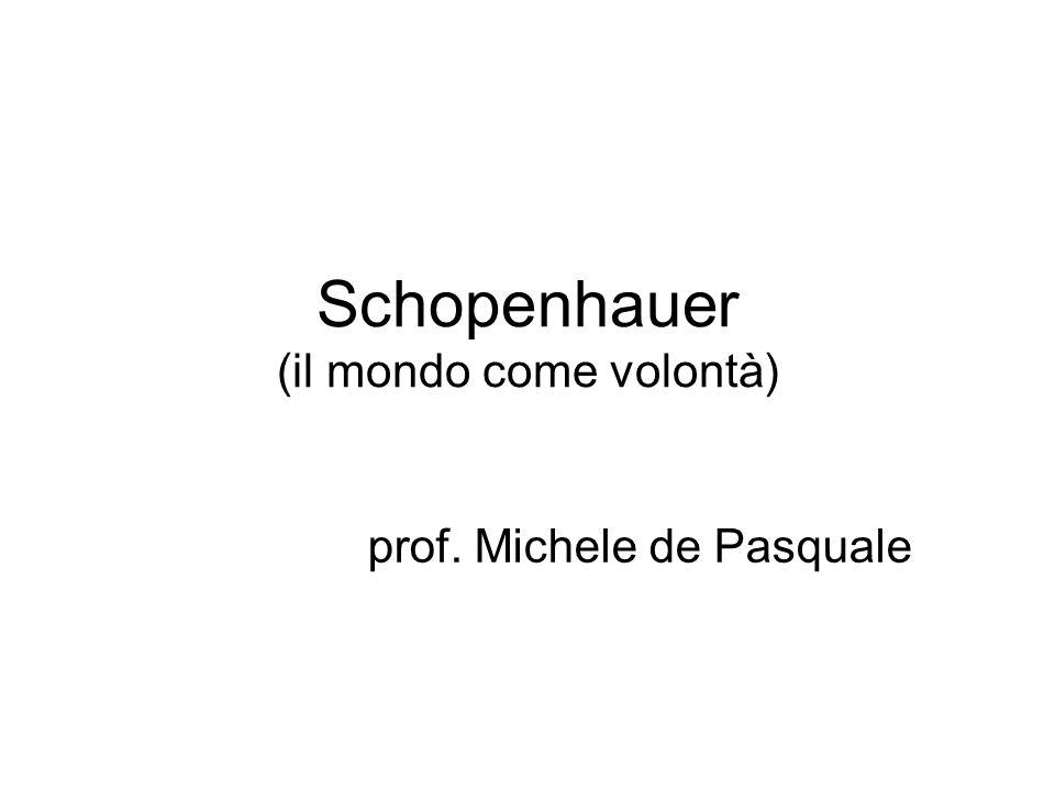 Schopenhauer (il mondo come volontà)