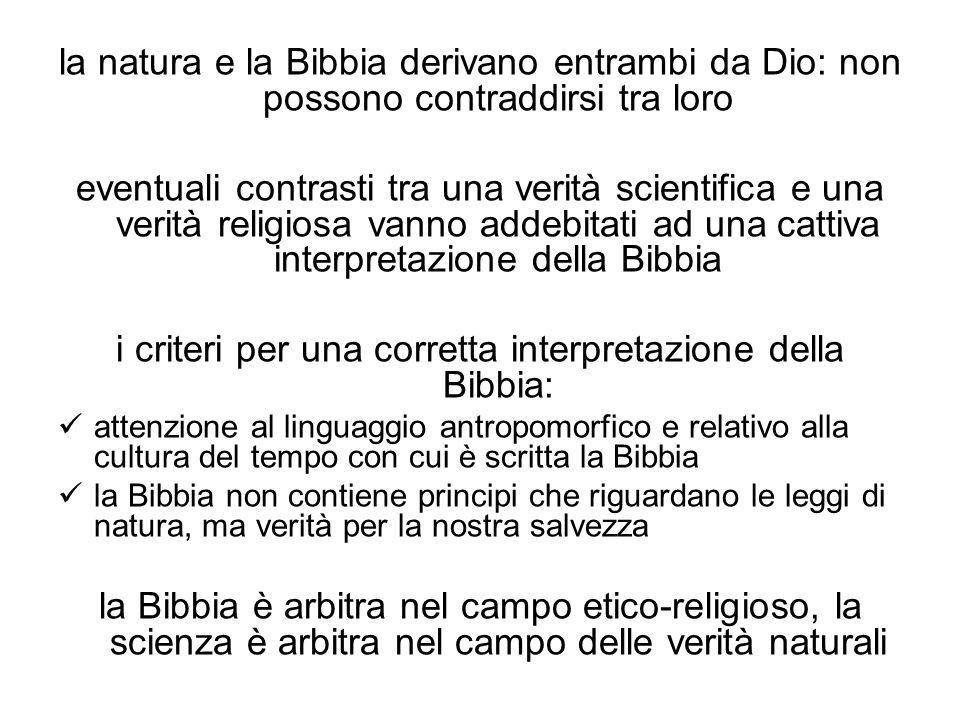 i criteri per una corretta interpretazione della Bibbia: