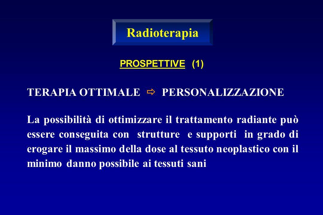 Radioterapia TERAPIA OTTIMALE  PERSONALIZZAZIONE
