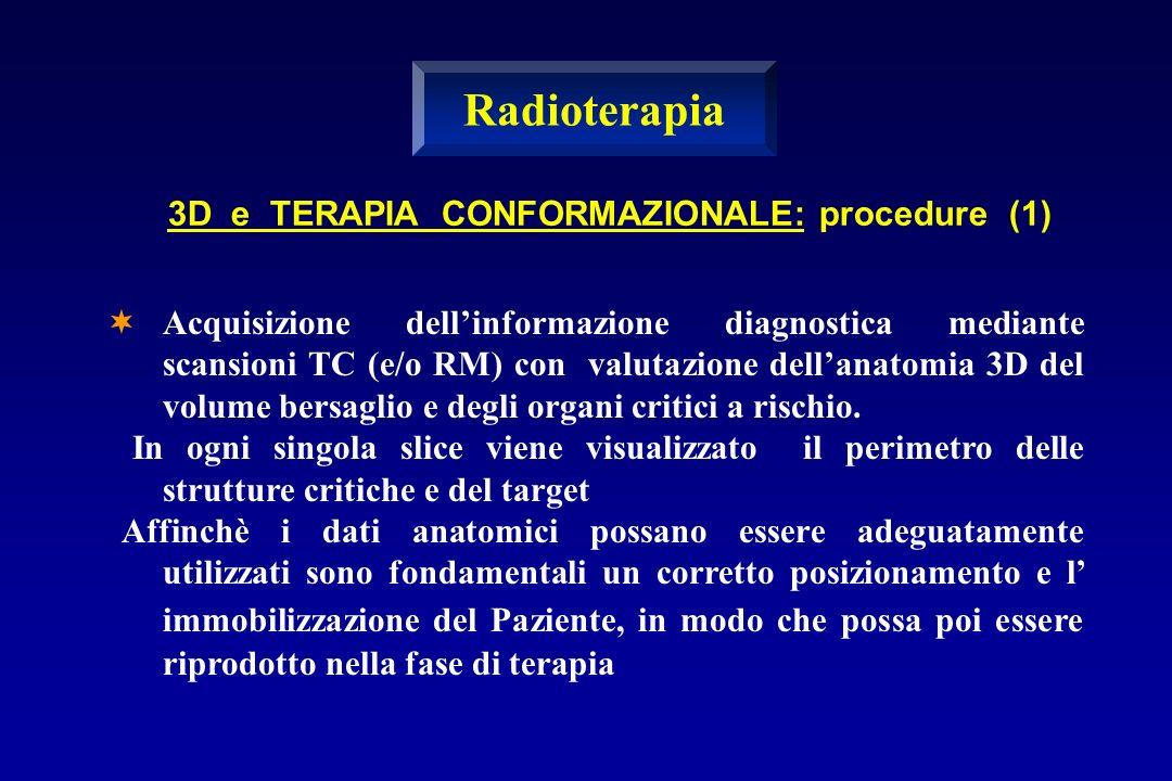 Radioterapia 3D e TERAPIA CONFORMAZIONALE: procedure (1)