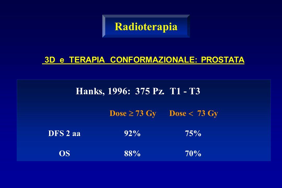 Radioterapia Hanks, 1996: 375 Pz. T1 - T3