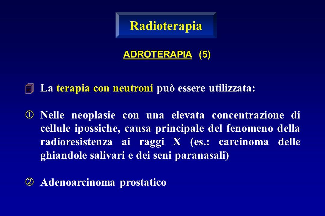 Radioterapia La terapia con neutroni può essere utilizzata: