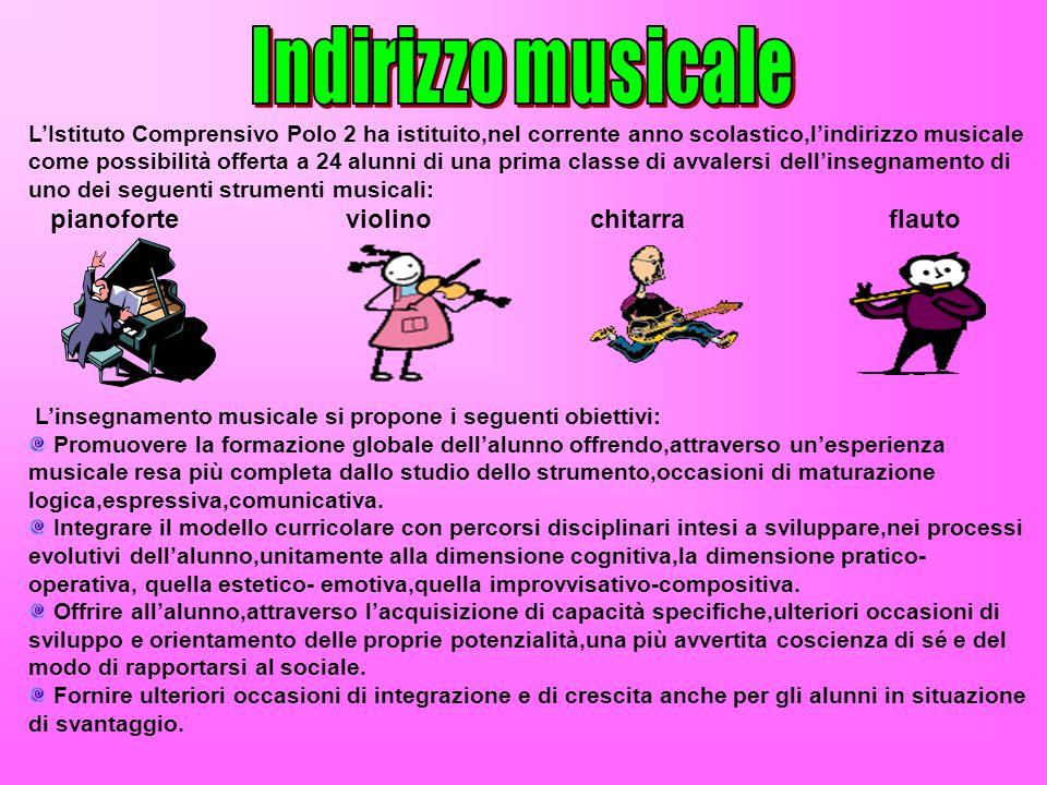 Indirizzo musicale pianoforte violino chitarra flauto