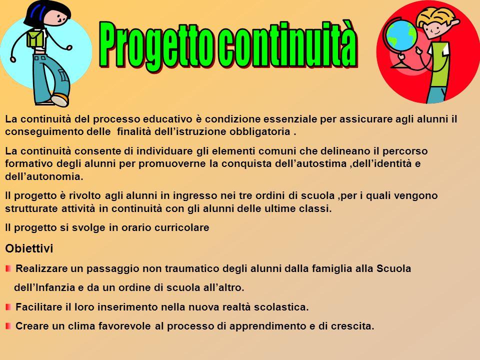 Progetto continuità Obiettivi