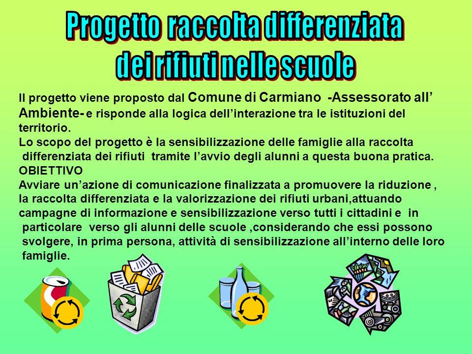 Progetto raccolta differenziata dei rifiuti nelle scuole