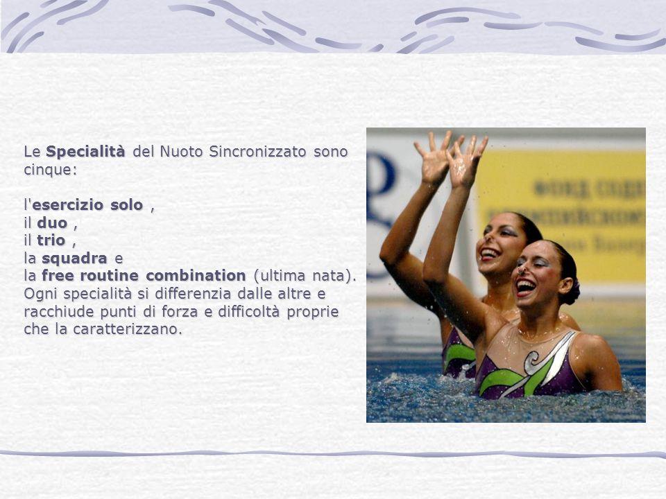 Le Specialità del Nuoto Sincronizzato sono cinque: