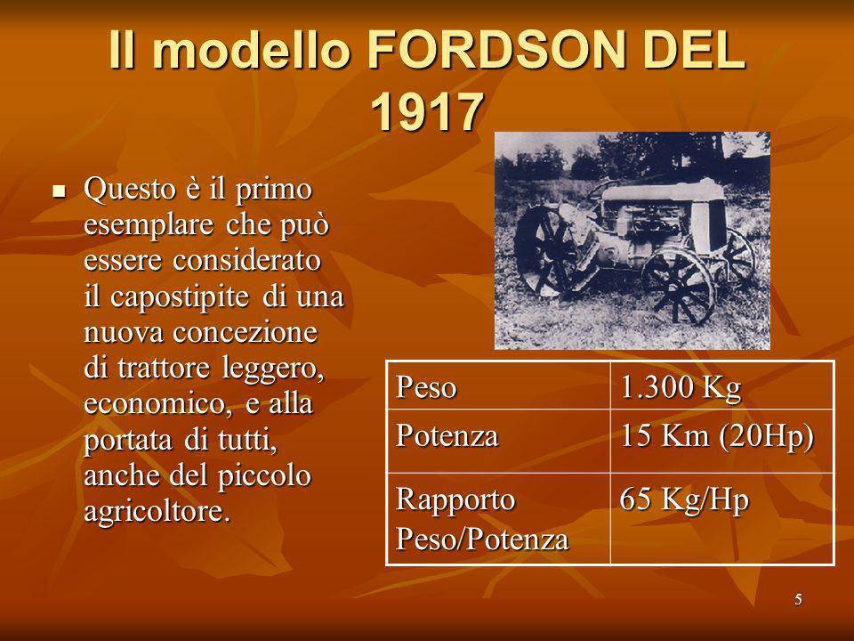 Il modello FORDSON DEL 1917