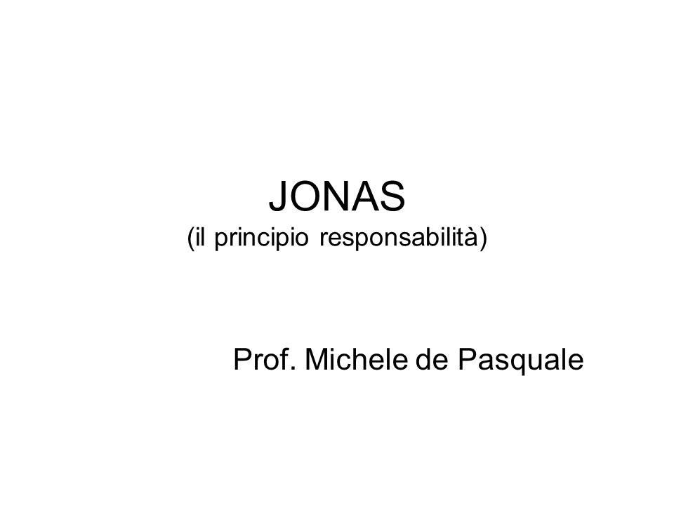 JONAS (il principio responsabilità)