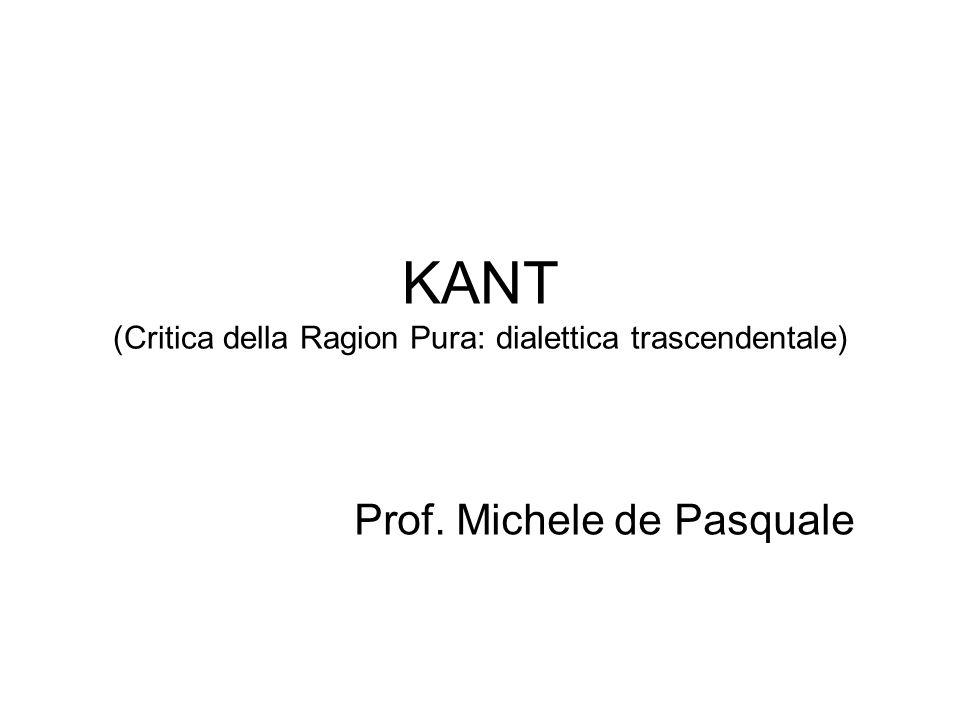 KANT (Critica della Ragion Pura: dialettica trascendentale)