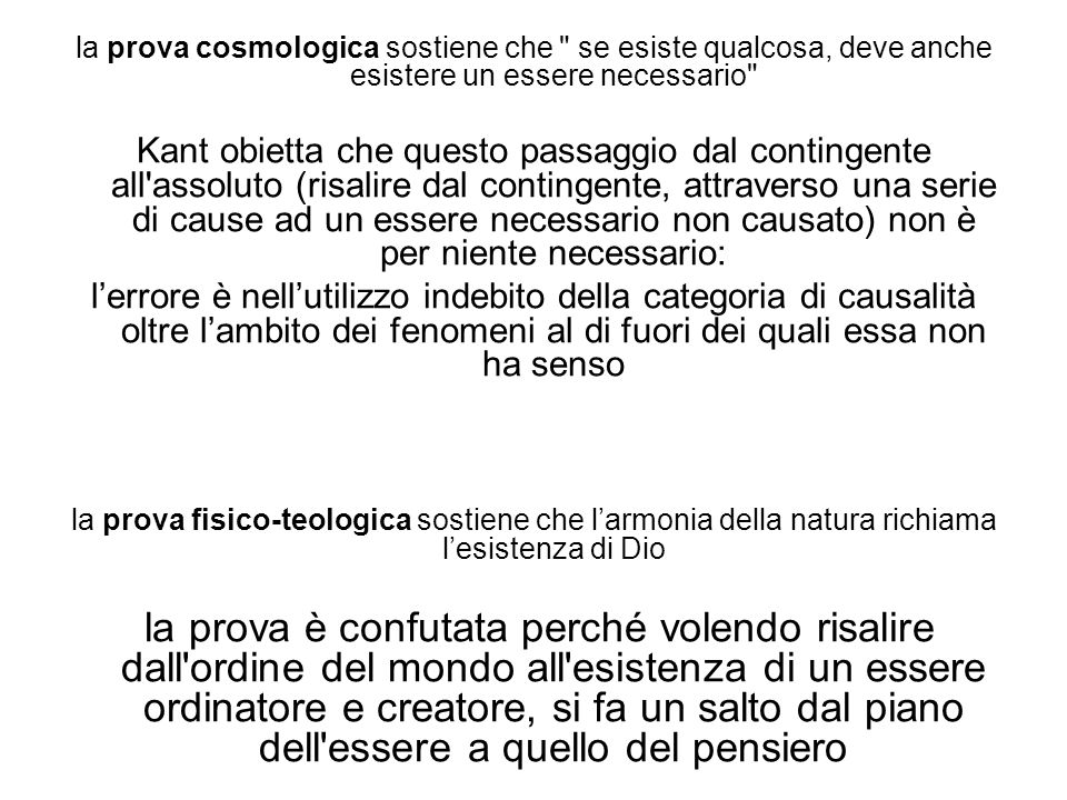 la prova cosmologica sostiene che se esiste qualcosa, deve anche esistere un essere necessario