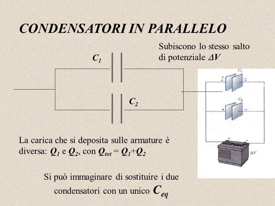 Si può immaginare di sostituire i due condensatori con un unico Ceq