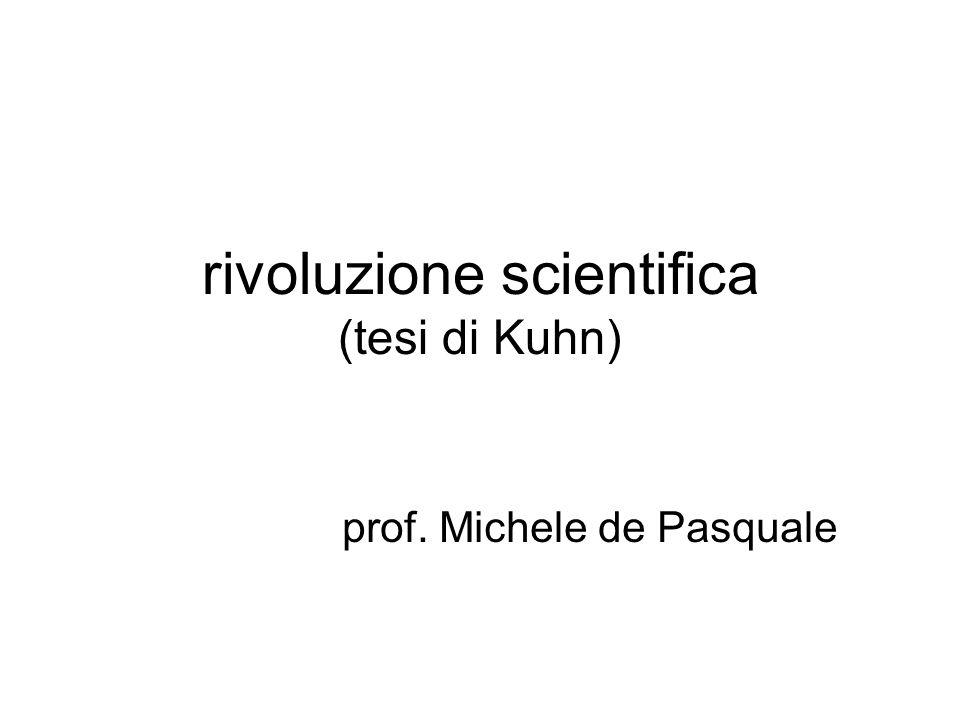 rivoluzione scientifica (tesi di Kuhn)