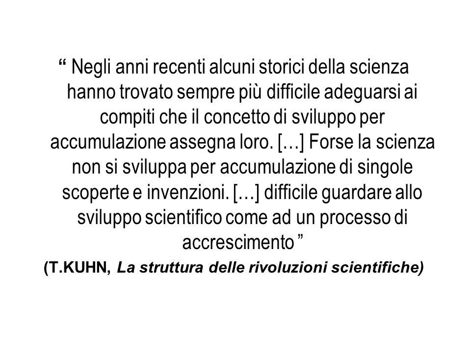 (T.KUHN, La struttura delle rivoluzioni scientifiche)