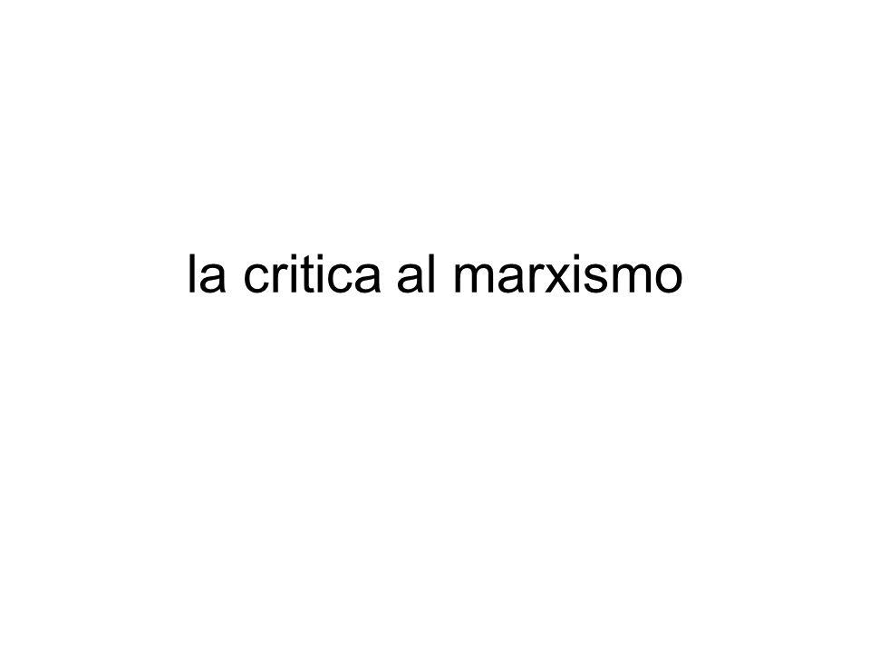 la critica al marxismo