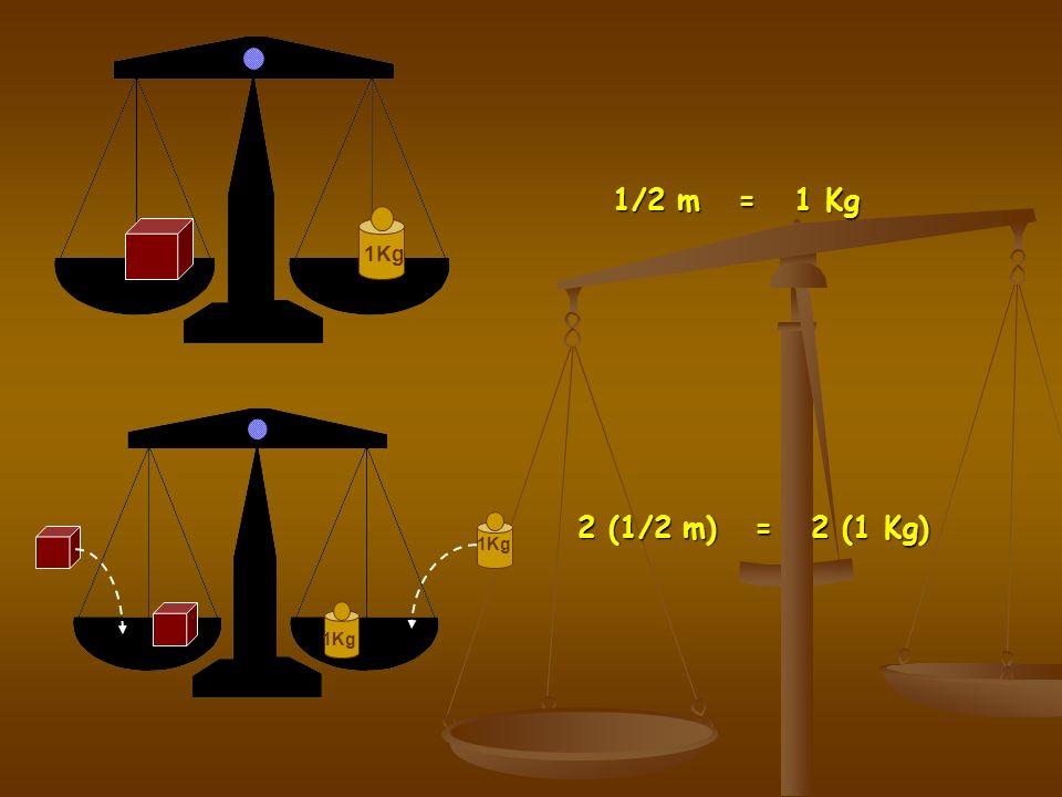 1Kg 1/2 m = 1 Kg 1Kg 2 (1/2 m) = 2 (1 Kg)