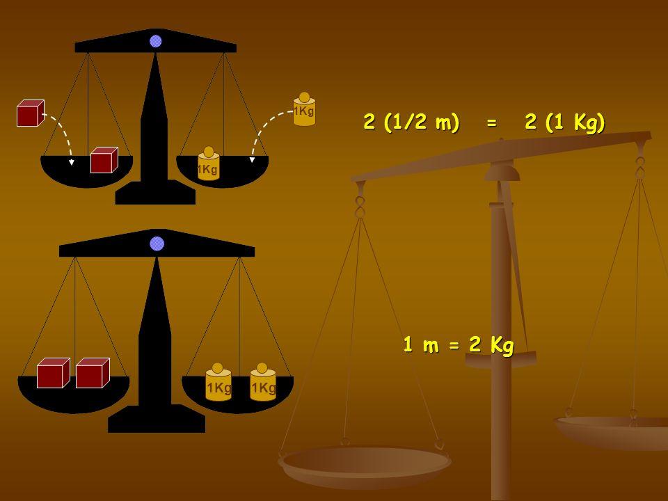 1Kg 2 (1/2 m) = 2 (1 Kg) 1Kg 1 m = 2 Kg