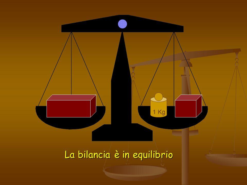 La bilancia è in equilibrio