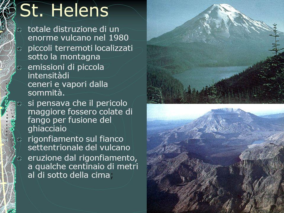St. Helens totale distruzione di un enorme vulcano nel 1980