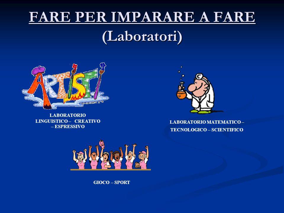 FARE PER IMPARARE A FARE (Laboratori)