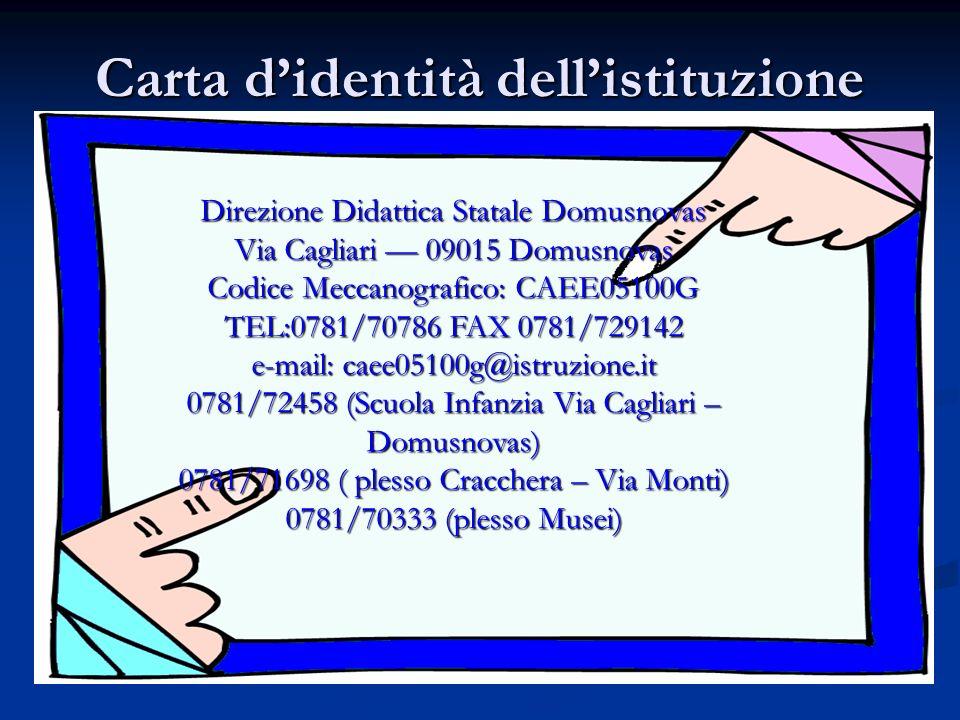 Carta d'identità dell'istituzione
