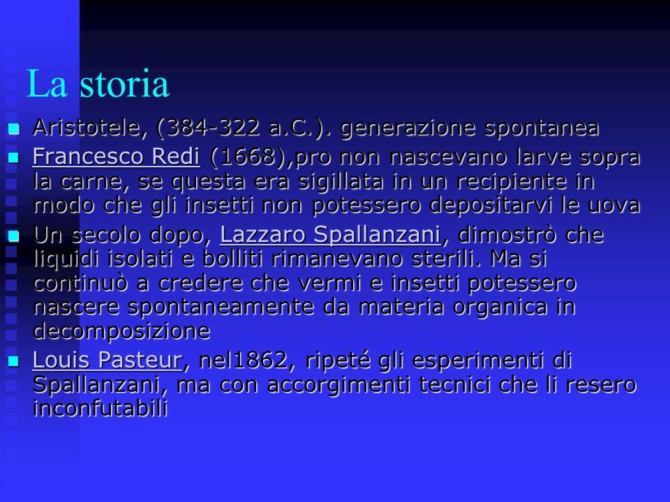 La storia Aristotele, (384-322 a.C.). generazione spontanea