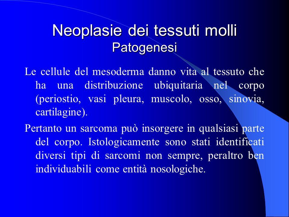 Neoplasie dei tessuti molli Patogenesi