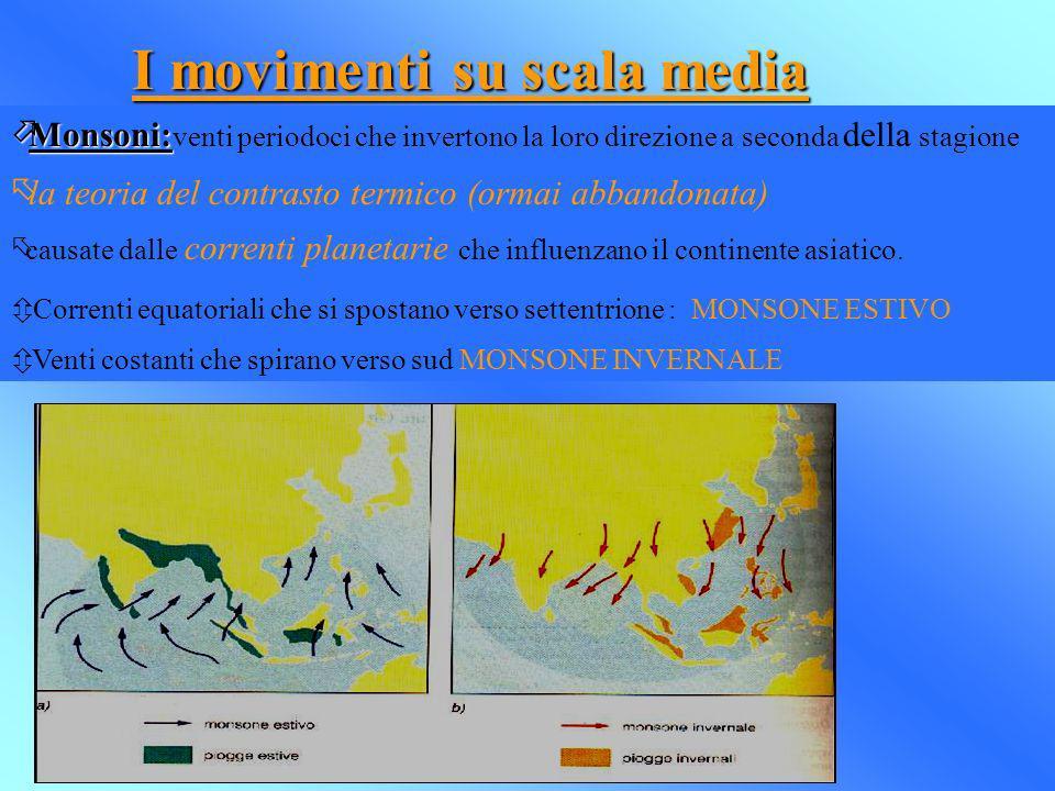 I movimenti su scala media
