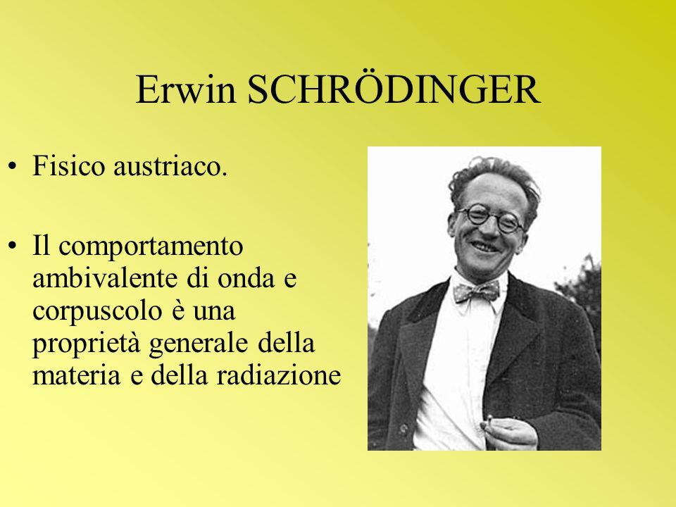 Erwin SCHRÖDINGER Fisico austriaco.