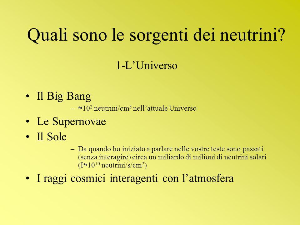 Quali sono le sorgenti dei neutrini