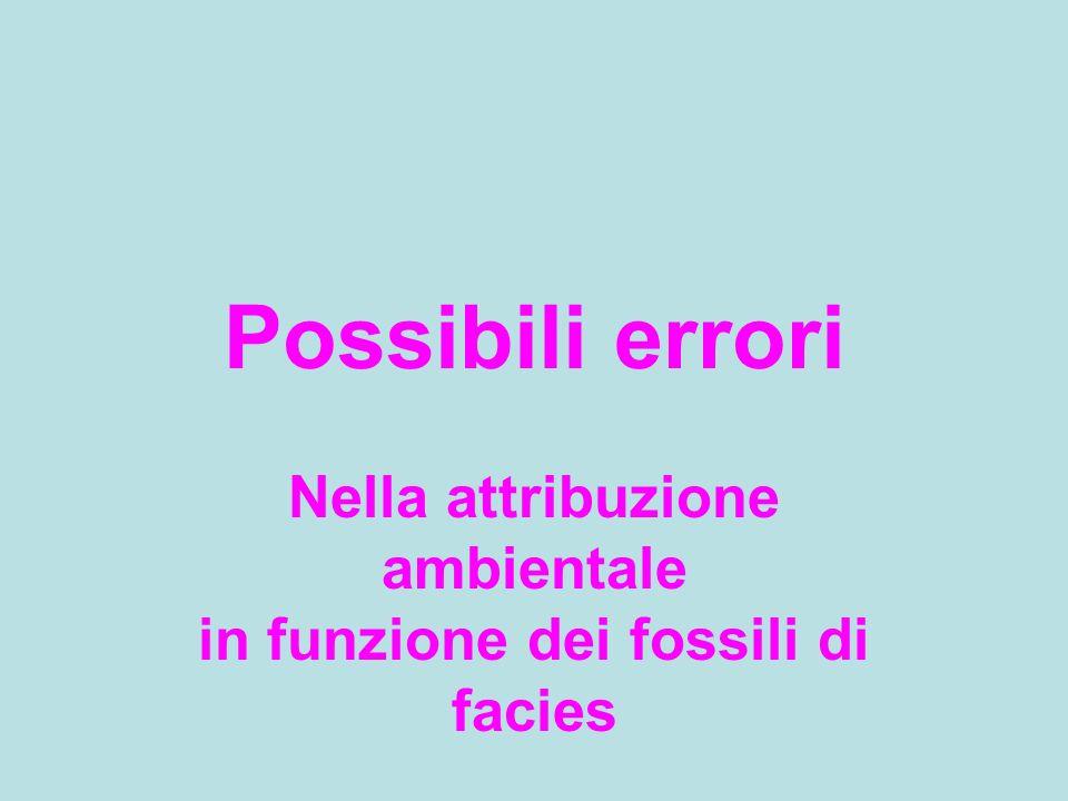 Nella attribuzione ambientale in funzione dei fossili di facies