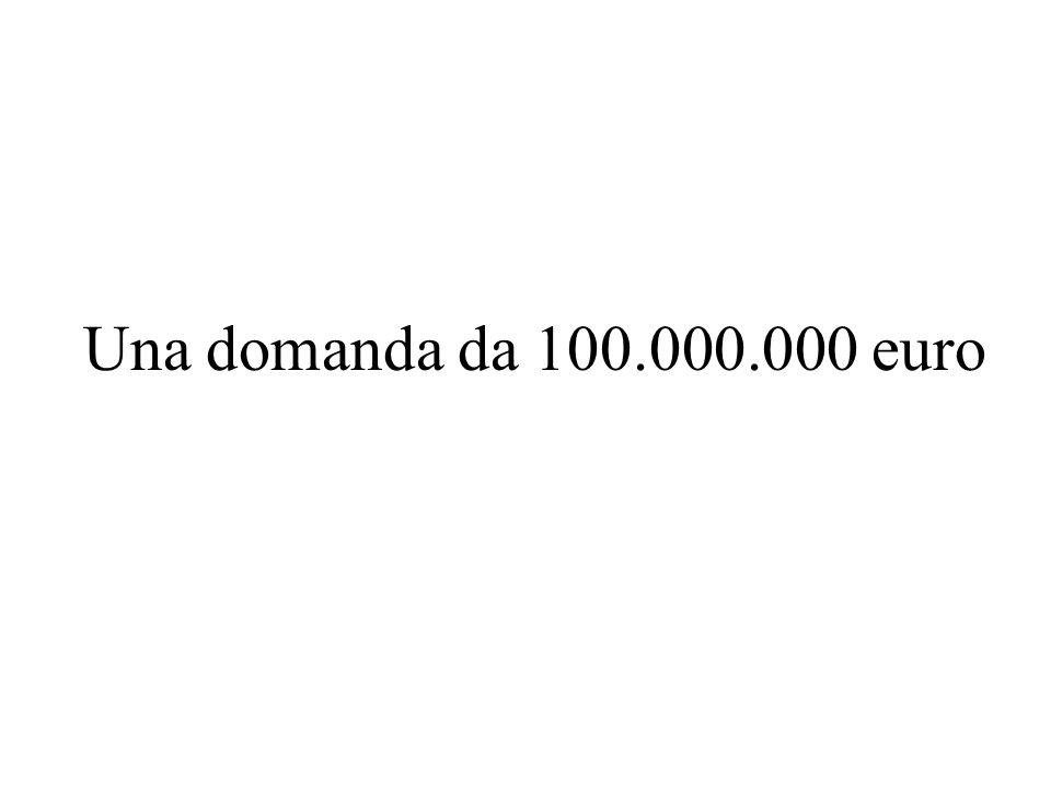 Una domanda da 100.000.000 euro