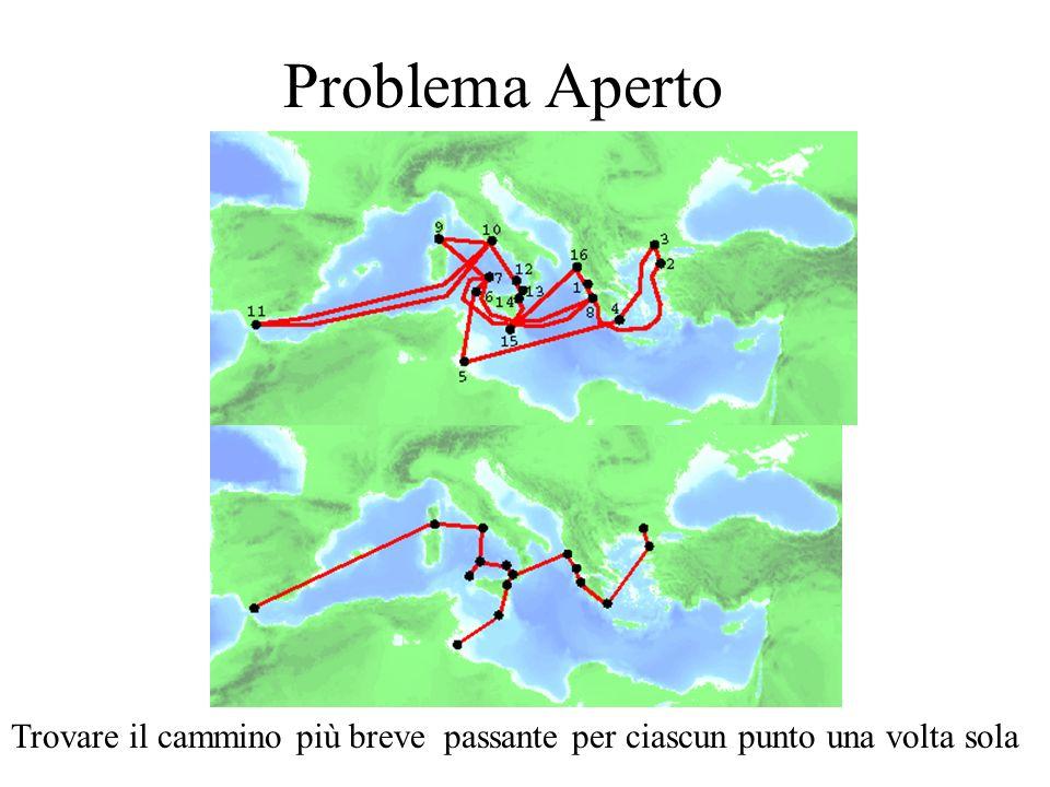 Problema Aperto Trovare il cammino più breve passante per ciascun punto una volta sola
