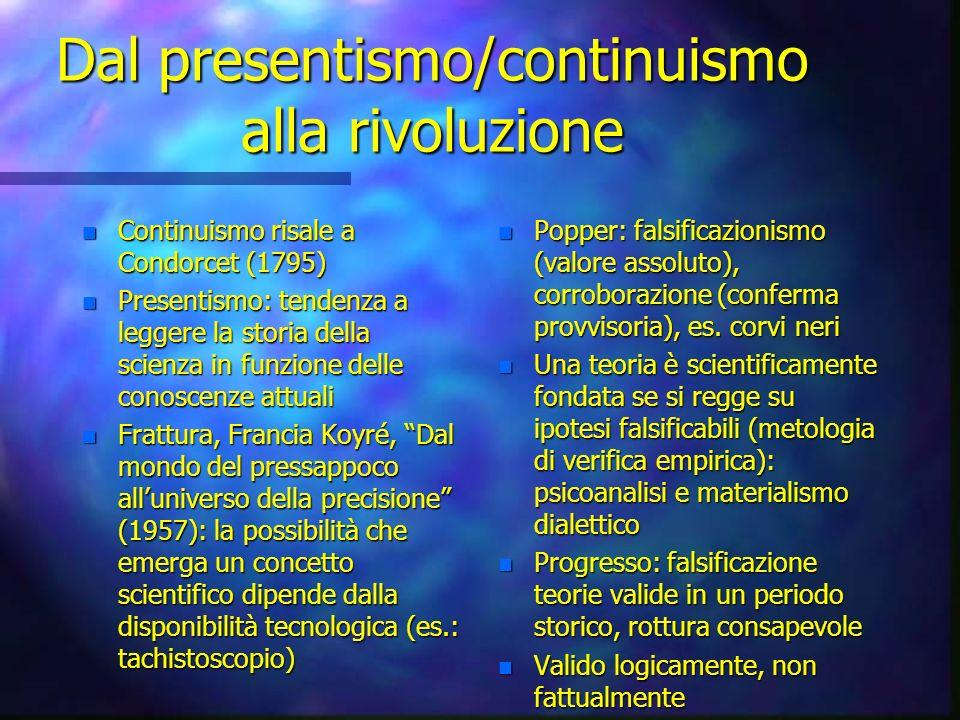 Dal presentismo/continuismo alla rivoluzione
