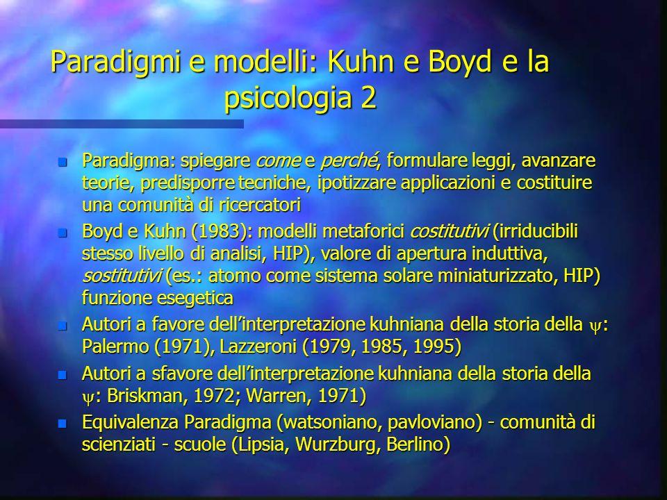 Paradigmi e modelli: Kuhn e Boyd e la psicologia 2
