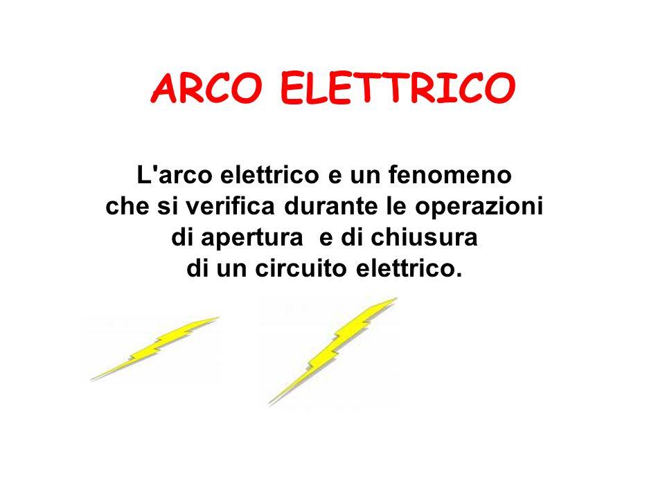ARCO ELETTRICO L arco elettrico e un fenomeno