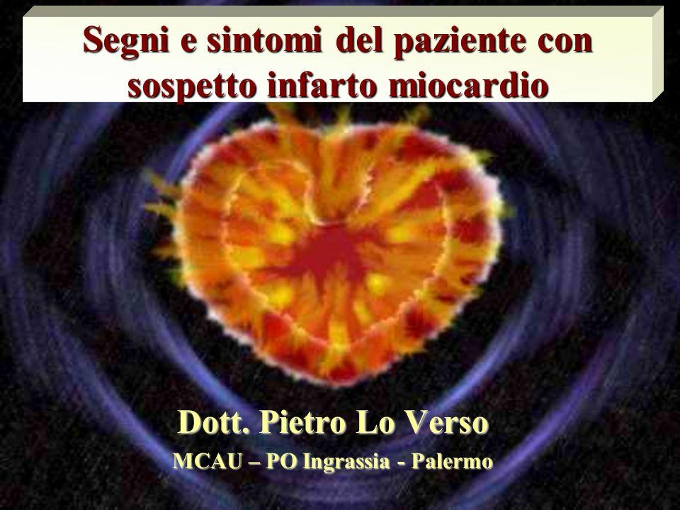 Segni e sintomi del paziente con sospetto infarto miocardio