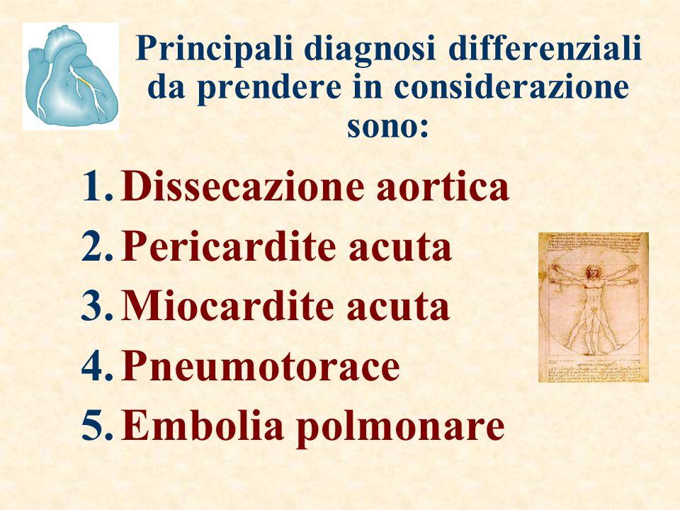 Principali diagnosi differenziali da prendere in considerazione sono: