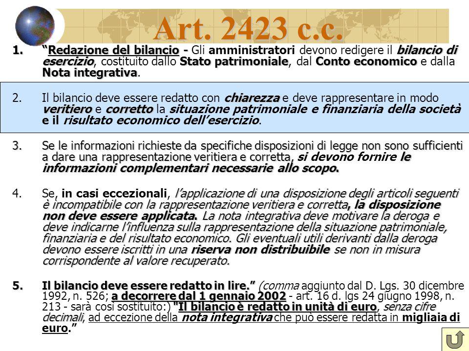 Art. 2423 c.c.