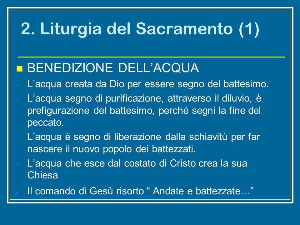 2. Liturgia del Sacramento (1)