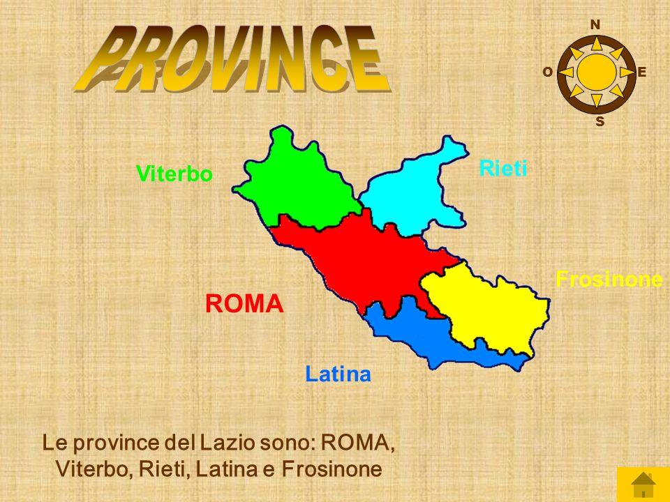 Le province del Lazio sono: ROMA, Viterbo, Rieti, Latina e Frosinone