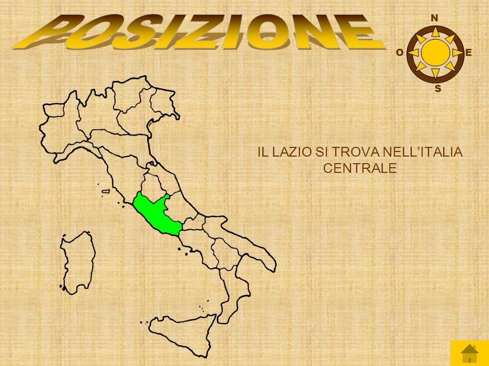IL LAZIO SI TROVA NELL'ITALIA CENTRALE
