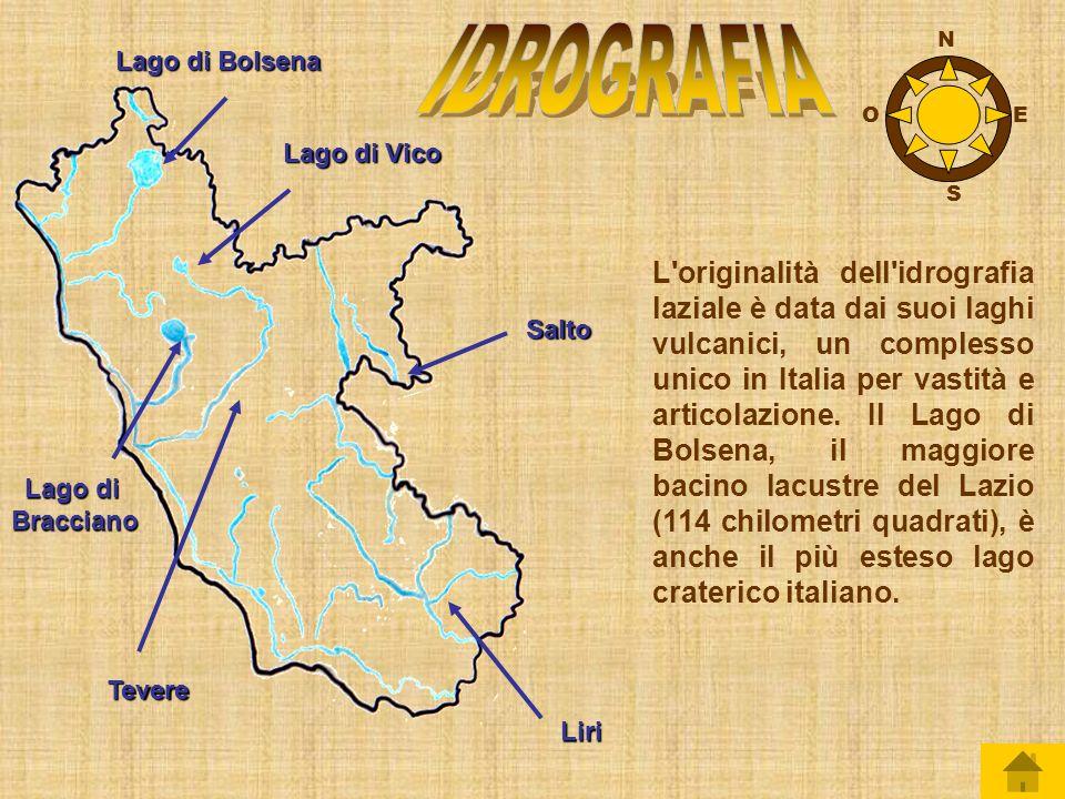 IDROGRAFIA N. Lago di Bolsena. O. E. Lago di Vico. S.