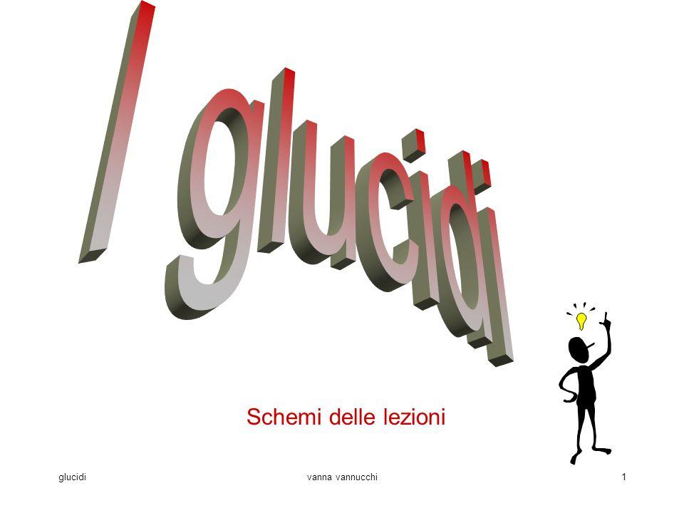 I glucidi Schemi delle lezioni glucidi vanna vannucchi