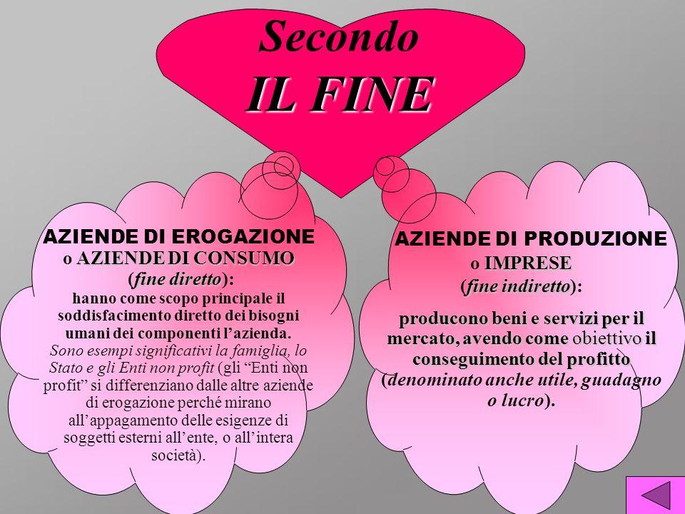 AZIENDE DI PRODUZIONE o IMPRESE (fine indiretto):