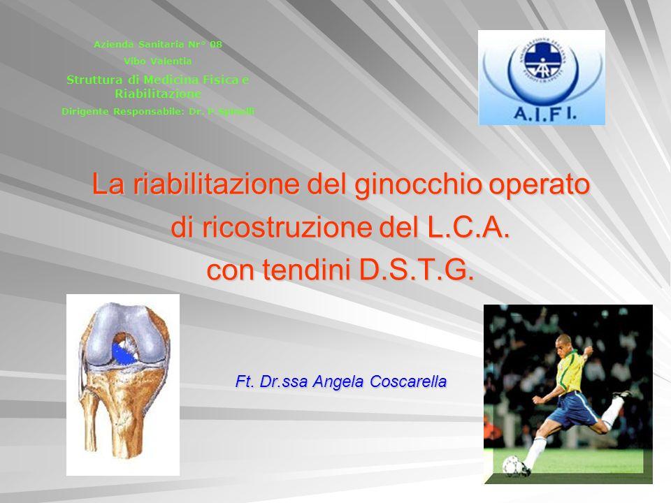 La riabilitazione del ginocchio operato di ricostruzione del L.C.A.
