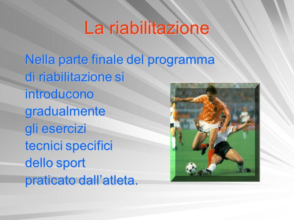 La riabilitazione Nella parte finale del programma