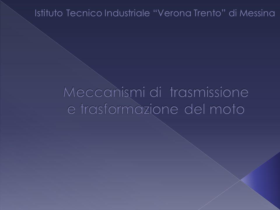 Meccanismi di trasmissione e trasformazione del moto