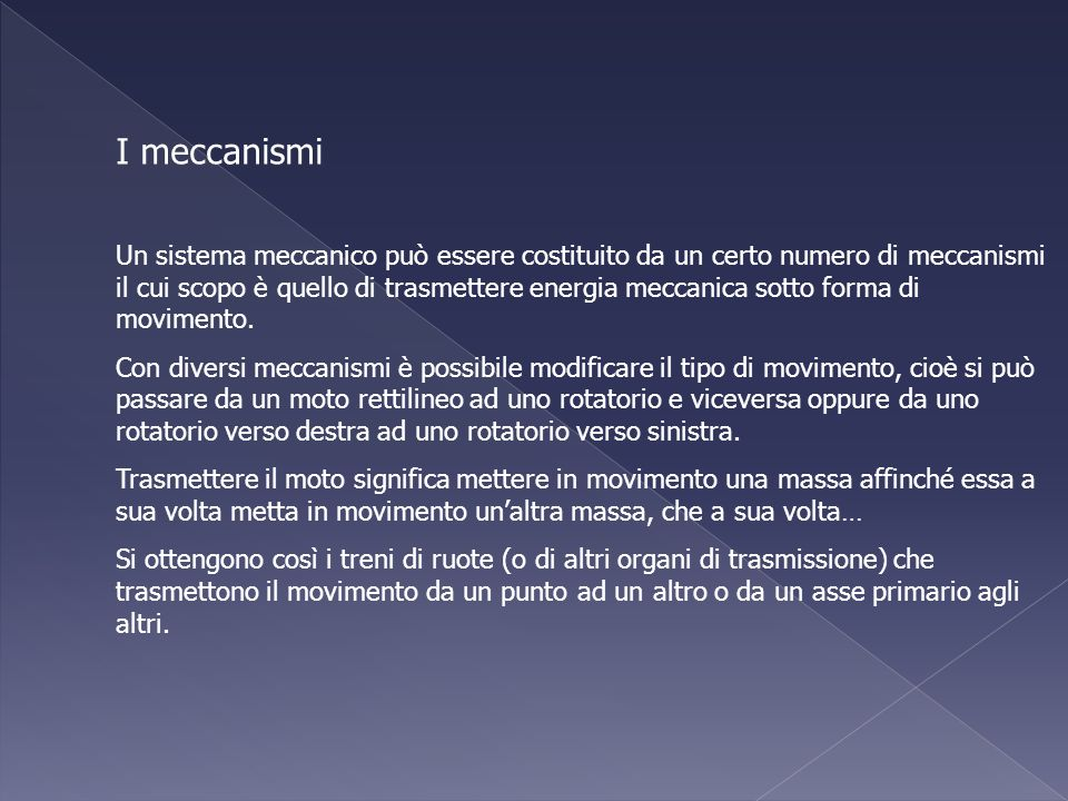 I meccanismi